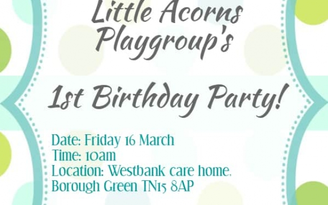 Little Acorns Playgroup at Westbank Turns 1!