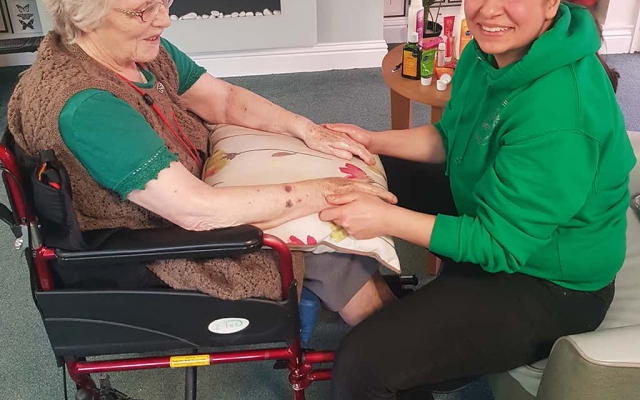 Pampering sessions at Westbank care home